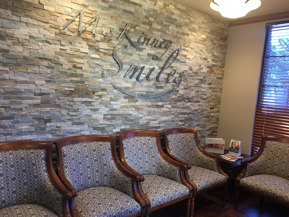 waiting room at offices at McKinney Smiles